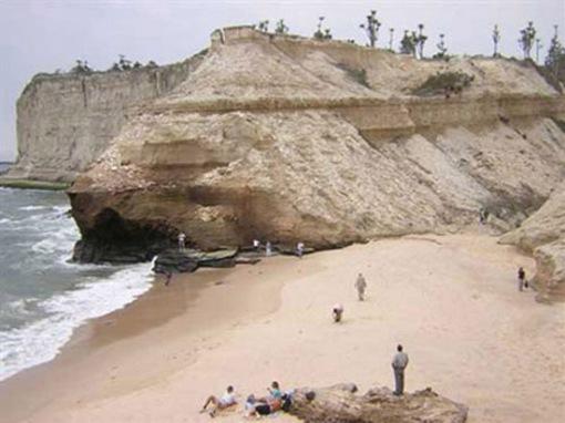 Beach clean-up outside of Luanda