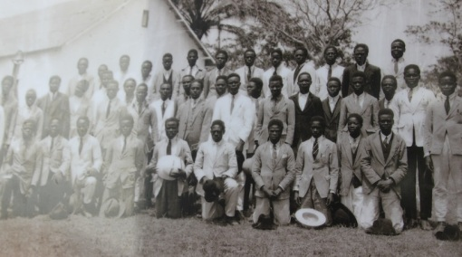 Reverand Agostinho Pedro Neto, standing ninth from the left, second row, at the Methodist Church Conference in Angola, at Quiongua, 1928 (Photo taken by Dr. Alexander Kemp)