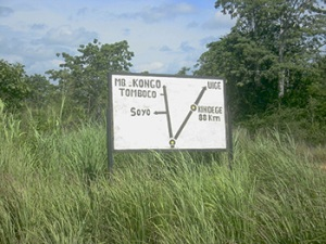 Heading north to the Congo border