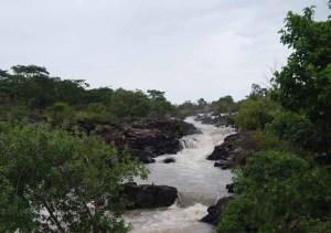 Rapids close to Caiundo in the province of Cuando Cubango