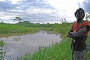 Headwaters of the Okavango at Tchinyama, 30 km south of Huambo city
