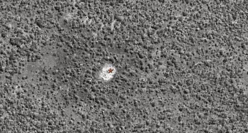 Identification of a water hole in Luando. Identificação de uma charca no Luando.
