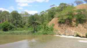 View of the Dande River from picnic site