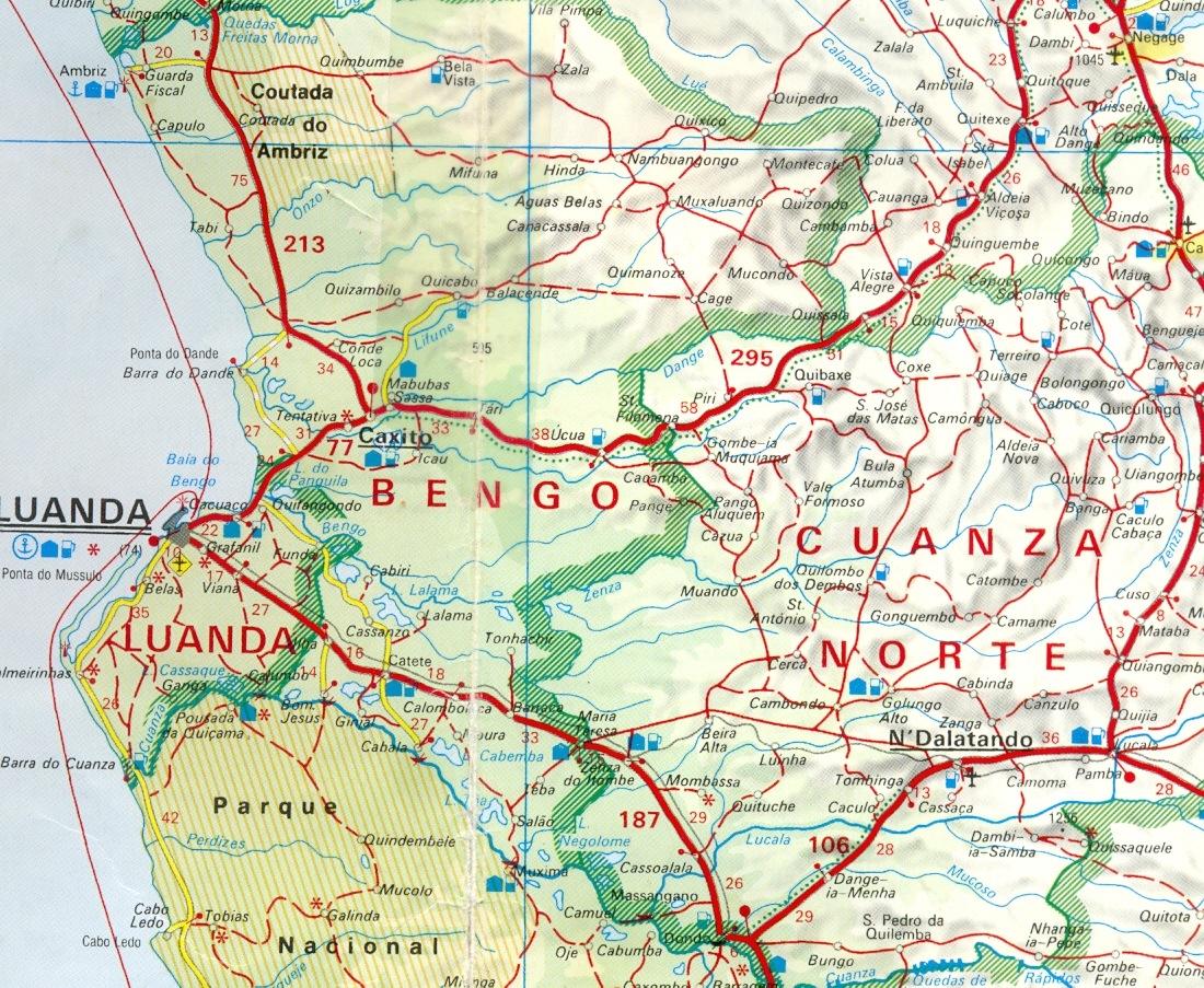 Bengo Angola Field Group - Angola provinces map