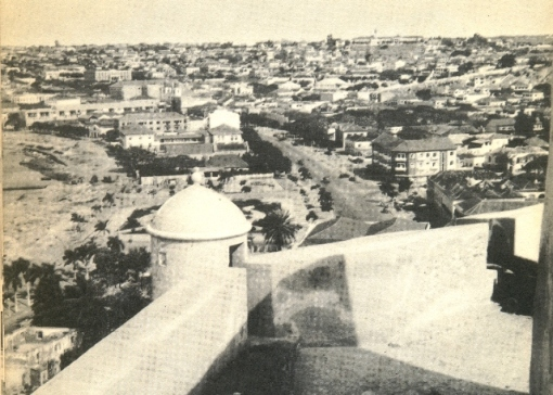 View of Luanda from the Forteleza, looking west toward downtown, taken about 65 years ago.