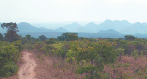 Huambo province, from rugged, wooded countryside...