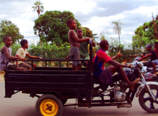 Cruising the streets of Caxito, the quiet and calm capital of Bengo province.