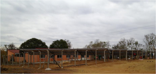 148 solar panels provide energy for ADDP Teacher's Training complex. Photo courtesy ADDP Caxito.