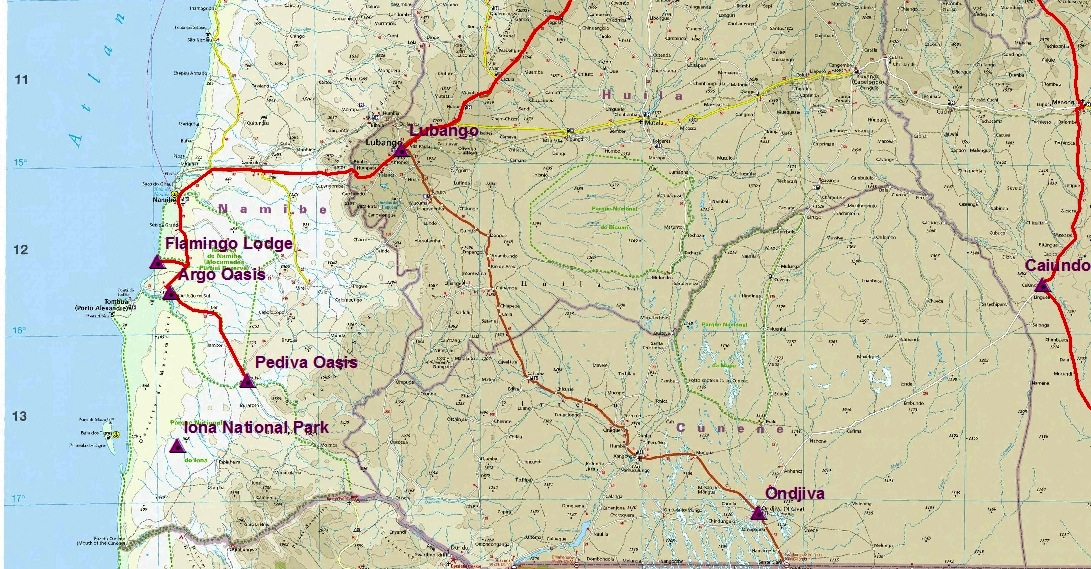 March Field Trip Pediva Oasis In Southern Namibe Province - Angola provinces map