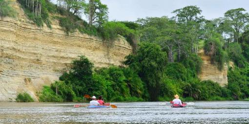 Kayaking the Kwanza River, Angola's longest river, which stretches for almost 1000 kilometers from Bie to the Atlantic. Photo courtesy Christian Stolte.