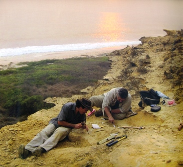 Paleontologists at work north of Caxito.