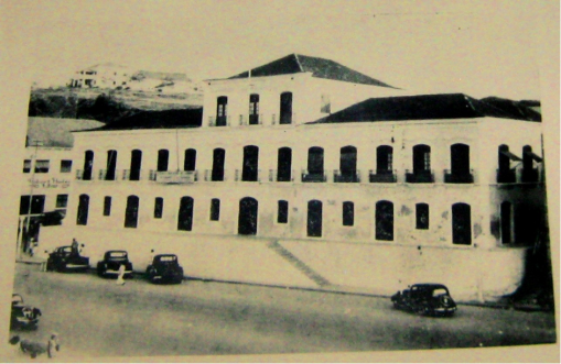 The palatial home of Angola's famous slave trader Dona Ana Joaquina, 1788 to 1859. At the time it was one of the largest houses in Luanda. Today Luanda's provincial courthouse stands on the site of Joaquina's 'palacio'.
