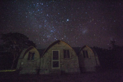 Cangandala Park buildings under the starry night